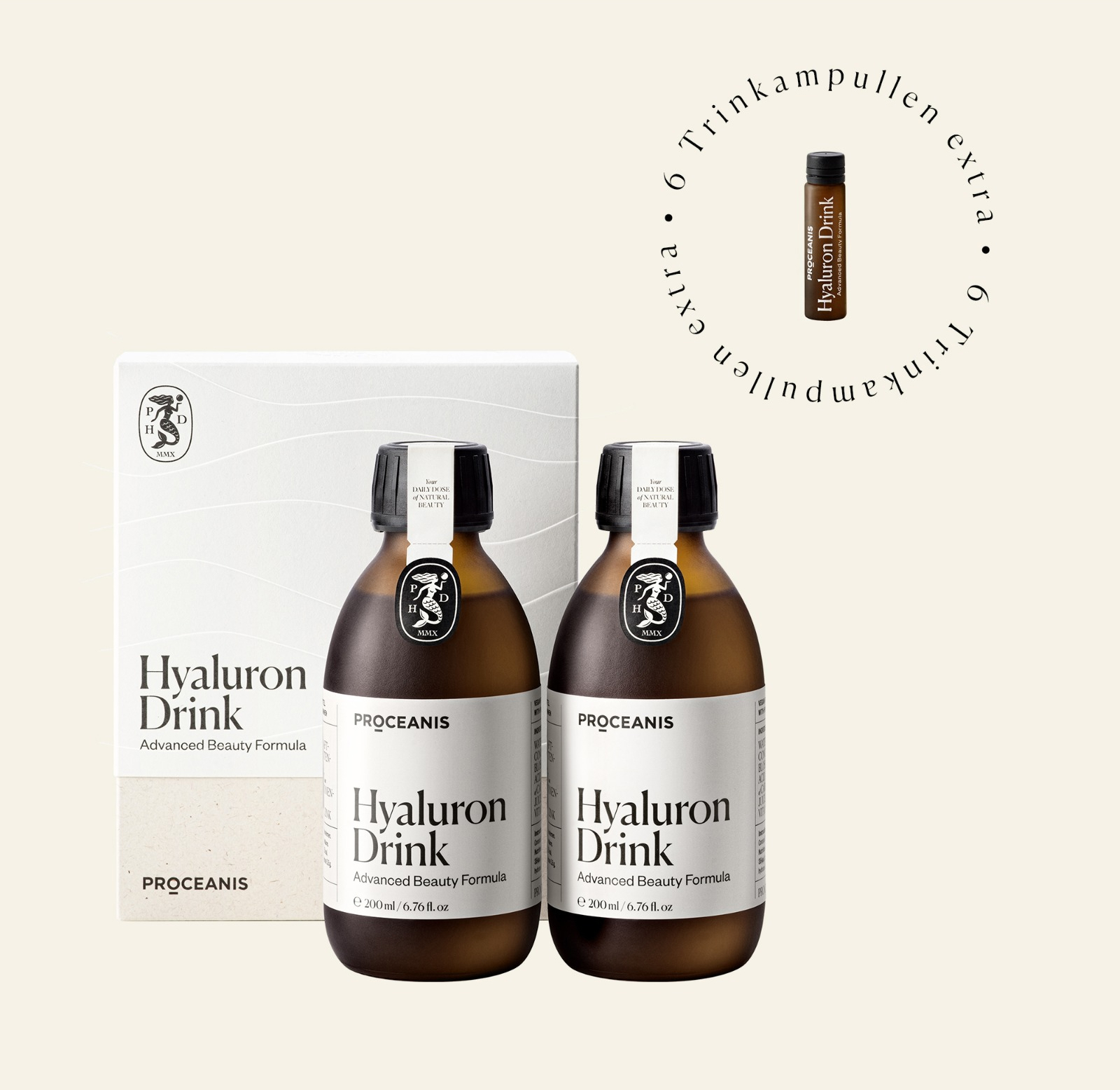 Hyaluron Drink Duo bottle – 6 Trinkampullen extra